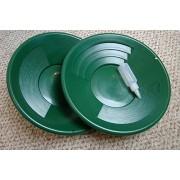 Make Your Own Gold Bars Green Gold Pans Bottle Snuffer - Mining-Panning Kit-Prospecting; 14 In. - Set Of 2