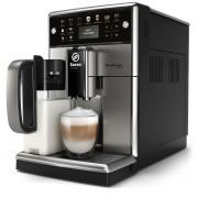 Espressor automat Philips Saeco PicoBaristo Deluxe SM5573/10, 13 băuturi, 15 bari, Carafă pentru lapte integrată 0.5 L, 12 optiuni de măcinare, Negru/Inox