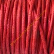 Cordon algodon encerado 2mm rojo 2. ( Precio por metro)