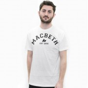 utcai póló férfi - Varsity - MACBETH - White Classic