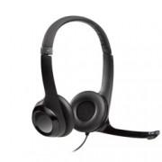 Слушалки Logitech H390, USB, черни