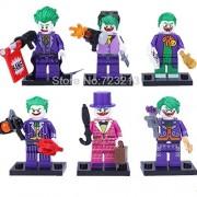 Generic 6pcs DC Bomb Joker Figure Set Super Hero Batman Bat-Man Building Block Models Kids Toys for Children 6pcs as Picture