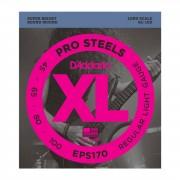 D'Addario Juego de 4 cuerdas para Bajo XL Pro Steels 45-100 45-65-80-100, EPS170