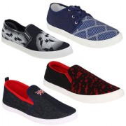 Super Men Combo Pack of 4 (Casual Shoes With Loafer Moccasins)