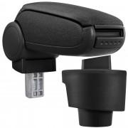 Подлакътник [pro.tec]® Seat Ibiza 6J с контейнер за съхранение, Текстил/Черен