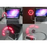 USB nastaviteľný LED ventilátor