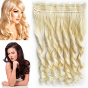 Clip in pás vlasů - vlnité lokny 55 cm - odstín (613 (beach blond)) - Světové Zboží