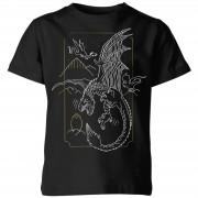 Harry Potter Camiseta Harry Potter Dragón - Niño - Negro - 11-12 años - Negro
