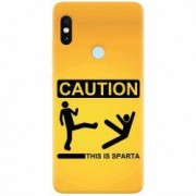 Husa silicon pentru Xiaomi Mi A2 Lite This Is Sparta Funny Illustration