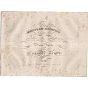 Nouveau recueil de Valses et Galoppe pour le Piano Forte RÉGNY, Alphée (XIX secolo) [Buono]