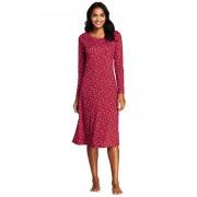 ランズエンド LANDS' END レディース・スーピマ・インターロック・スリープT/柄/長袖/Tシャツ(チェリージャムスノーフレーク)