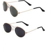 Vars Multicolor Aviator Sunglasses Pack of 2