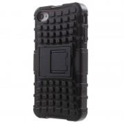 Capa Híbrida Anti-Derrapante para iPhone 4 / 4S - Preto