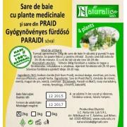 Sare de baie cu 4 plante medicinale -Praid- 2kg