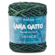 Lana Gatto VENICE kötő/horgoló fonal, viszkóz/pamut, 8892, Verde