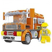 Ausini Construction City Road Work Truck with Action Figures Building Bricks 155pc Educational Blocks Set Compatible To
