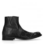 Sacha Zwarte lage boots met embroidery
