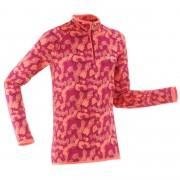 Wedze Sous-vêtement de ski enfant Haut Freshwarm 1/2 zip Rose - Wedze