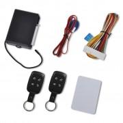 vidaXL Модул за централно заключване за автомобил с 2 дистанционни ключа