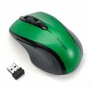 Egér, vezeték nélküli, optikai, közepes méret, USB, KENSINGTON Pro Fit, zöld (BME72424)