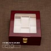 Cutie lemn pentru 6 ceasuri patrată
