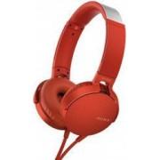 Casti audio Sony MDRXB550APR EXTRA BASS Difuzor neodim 30mm Rosu