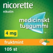 Nicorette Fruktmint, medicinskt tuggummi 4 mg 105 st