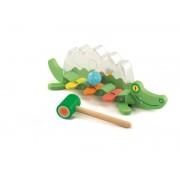 Jucarie motrica pentru bebelus Crocodilul jucaus Djeco
