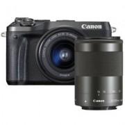 Canon Aparat EOS M6 Czarny + Obiektyw EF-M 55-200 mm f/4.5-6.3 IS STM + EF-M 15-45 mm f/3.5-6.3 IS STM