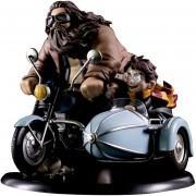 Figura de Harry Potter & Rubeus Hagrid en Motocicleta Original Quantum Mechanix