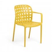 Kave Home Cadeira ISA amarela , en Plástico - Mostarda
