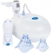 Aparat de aerosoli cu compresor Sanity Pro Inhaler si irigator Nosalek Jet 2 in 1 (Alb)