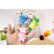 Kuhu Creations® Supreme 4 Pcs (Random) Animal Puppets Baby Story Telling Finger Puppets.