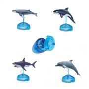 Assorted 4pcs/set of Ukenn First Generation 3d Sea Animal Puzzles Diy Orca Humpback Whale Great White Shark Dolphin Models Kids Educational Toy 5266