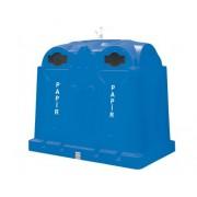3,5 m3 polietilén alsó ürítésű konténer 3770-1 Kék, papír gyűjtésére
