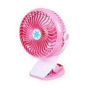 SUREELEE Clip 360 Degree Rotate Rechargeable Handy Mini USB Fan (PINK)
