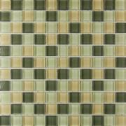 Maxwhite ASHS001 Mozaika skleněná hnědá - zelená 29,7x29,7cm