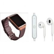 Mirza DZ09 Smart Watch and S6 Bluetooth Headsetfor SAMSUNG GALAXY J 1 4G(DZ09 Smart Watch With 4G Sim Card Memory Card| S6 Bluetooth Headset)
