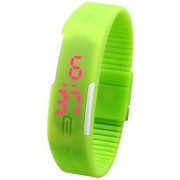 FARP Green colour digital led watch band type mens watch boys watch girls watch womens watch