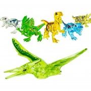 6 piezas Cristal Edición Dinosaurio Juguetes de bloques de construcción