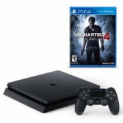 Конзола PlayStation 4 Slim 500GB Black + ИГРА UNCHARTED 4: A THIEF'S END ЗА PS4