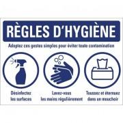 Rolléco Panneau règles d'hygiène PVC