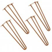 [en.casa]® Štýlové stolové nohy 3 – sada nôh (4 kusová) - 45 cm - bronzové
