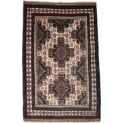 Handgeknüpft. Ursprung: Afghanistan Orientalischer Belutsch Teppich 95X147 Dunkelrot/Hellbraun (Wolle, Afghanistan)