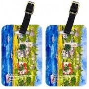 Caroline's Treasures 6031BT Harbour Scene With Sailboat Luggage Tag(Multicolor)