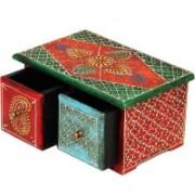 Shreeng Horizontal Embossed wooden box