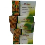 MXOFERE ALMOND HONEY SOAP with Almond oil 75 GRM ( SET OF 5 ) MRP . Rs.300/- INR Offer Prize Rs 199/