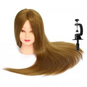 Cap Manechin Par Natural Blond 100% - 50cm + Bonus Suport