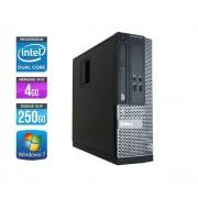 Optiplex 3020 SFF - Ordinateur de bureau - Noir (Intel Pentium G3240 / 3.10 GHz, 4 Go de RAM, Disque dur 250 Go, Graveur DVD, Windows 7 Professionnel)