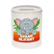 Bellatio Decorations Spaarpot van de spaar olifant Slurfie 9 cm